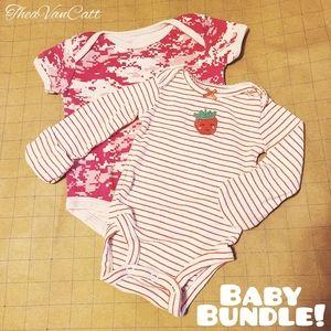 ♡ 2 Piece BABY BUNDLE ♡ Cammo Stripes Strawberries